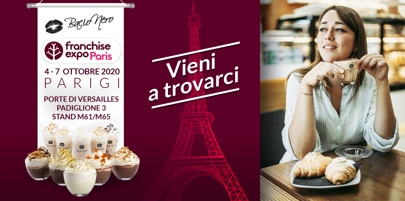 Bacio Nero Will Be Present At Franchise Expo Paris 2020